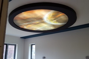 Galaxy stretch ceiling element